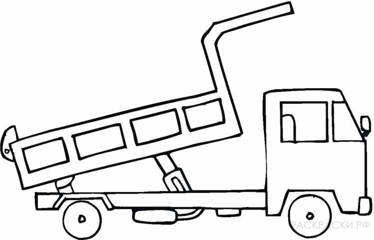 раскраска машина грузовик 2 раскраски рф распечатать