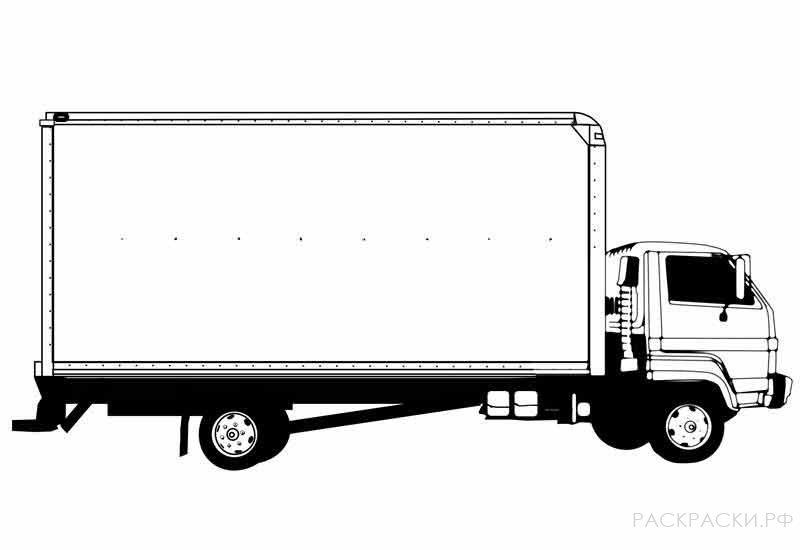 раскраска машина грузовик 4 раскраски рф распечатать