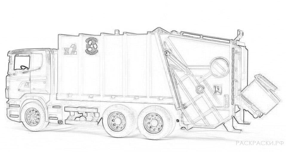 лапиков картинки мусоровозов раскраски этом случае вместо