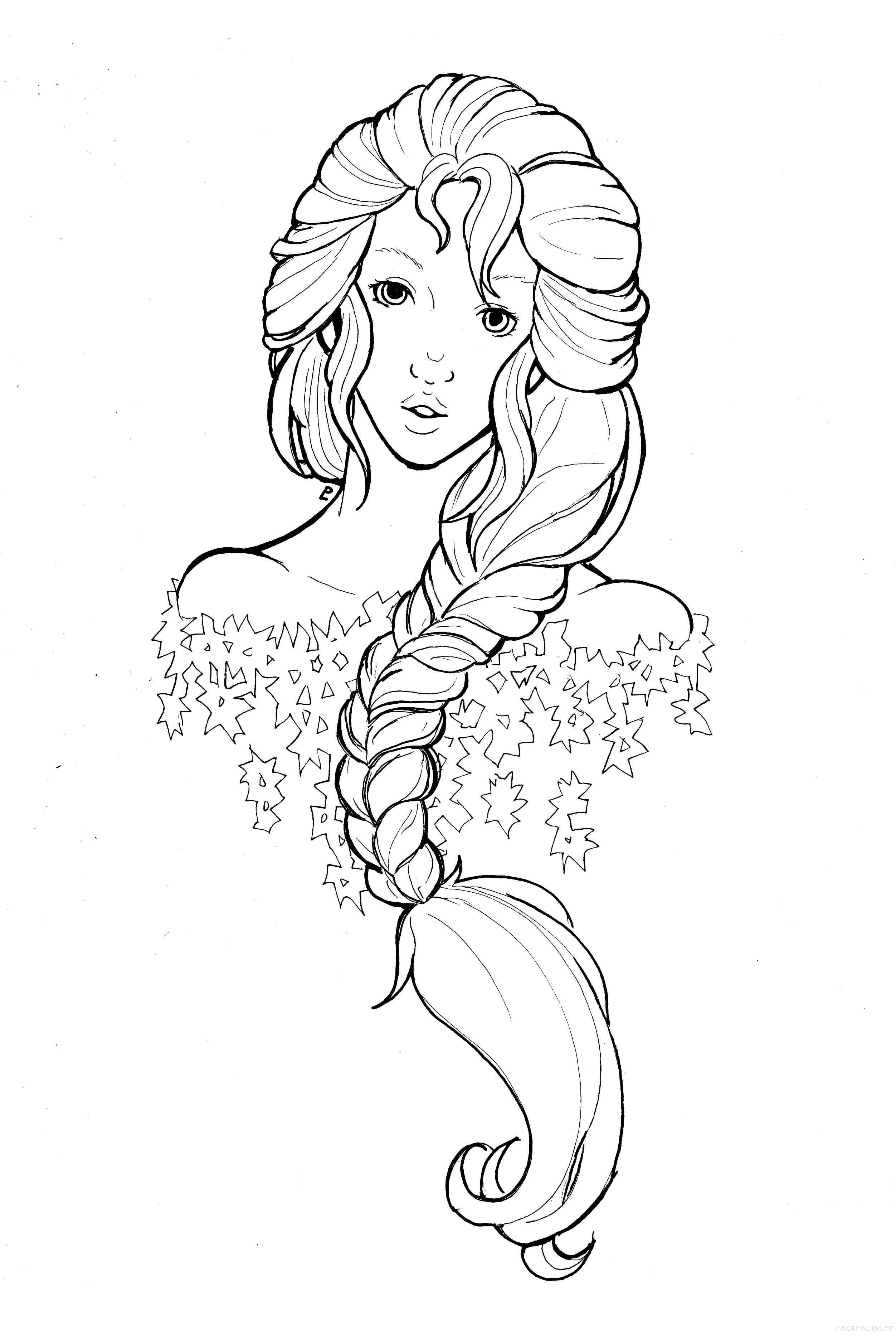 раскраска аниме снежная королева раскраски рф