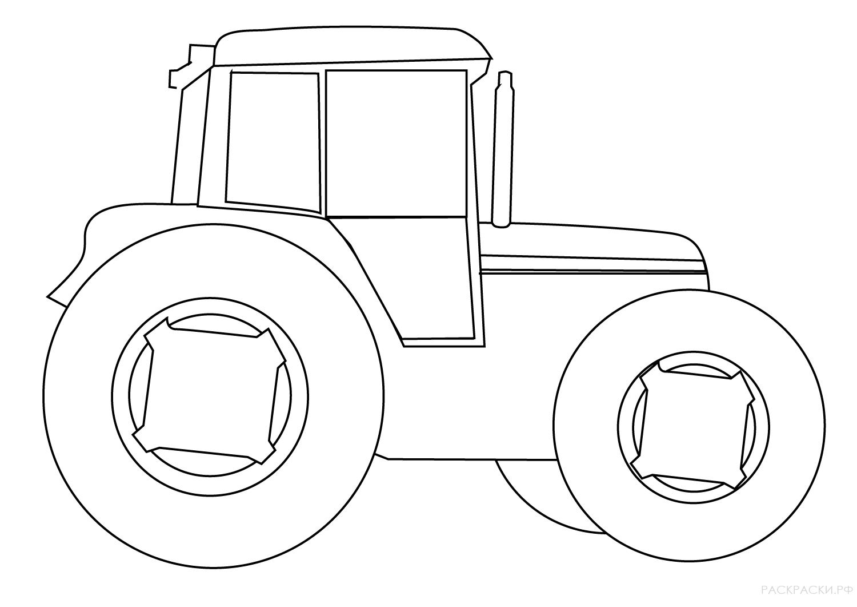 Картинки для ребенка 2 года для раскрашивания трактор, для мамы