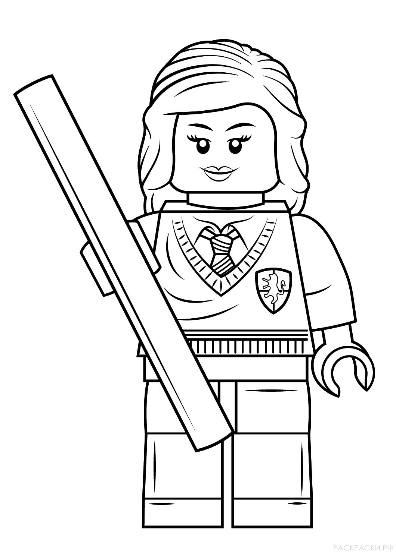 Раскраска Гермиона Грейнджер из серии Лего Гарри Поттер ...