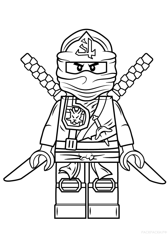 Картинки раскраска лего ниндзя