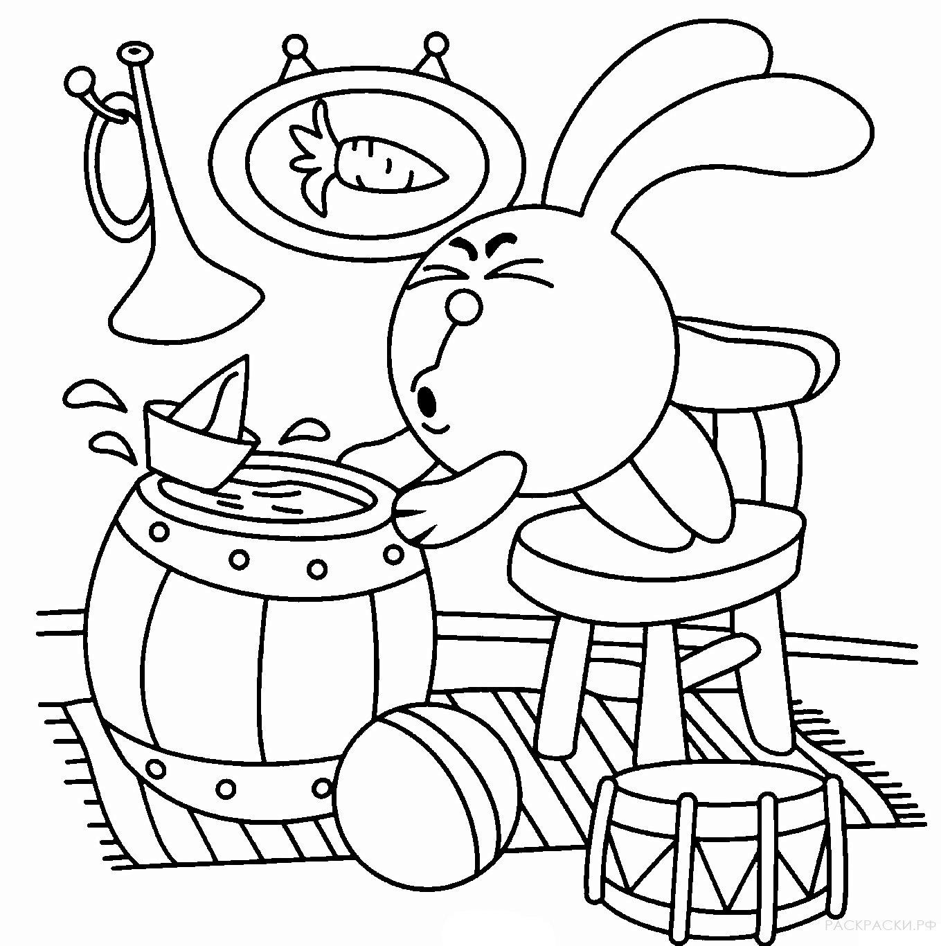 раскраска смешарики крош и бумажные кораблики раскраски рф