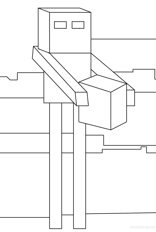 Раскраска Дракон Края из майнкрафт » Раскраски.рф ...