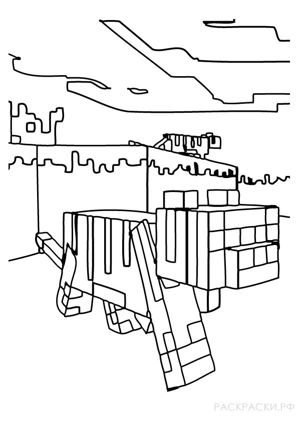 раскраска оцелоты из игры майнкрафт раскраски рф