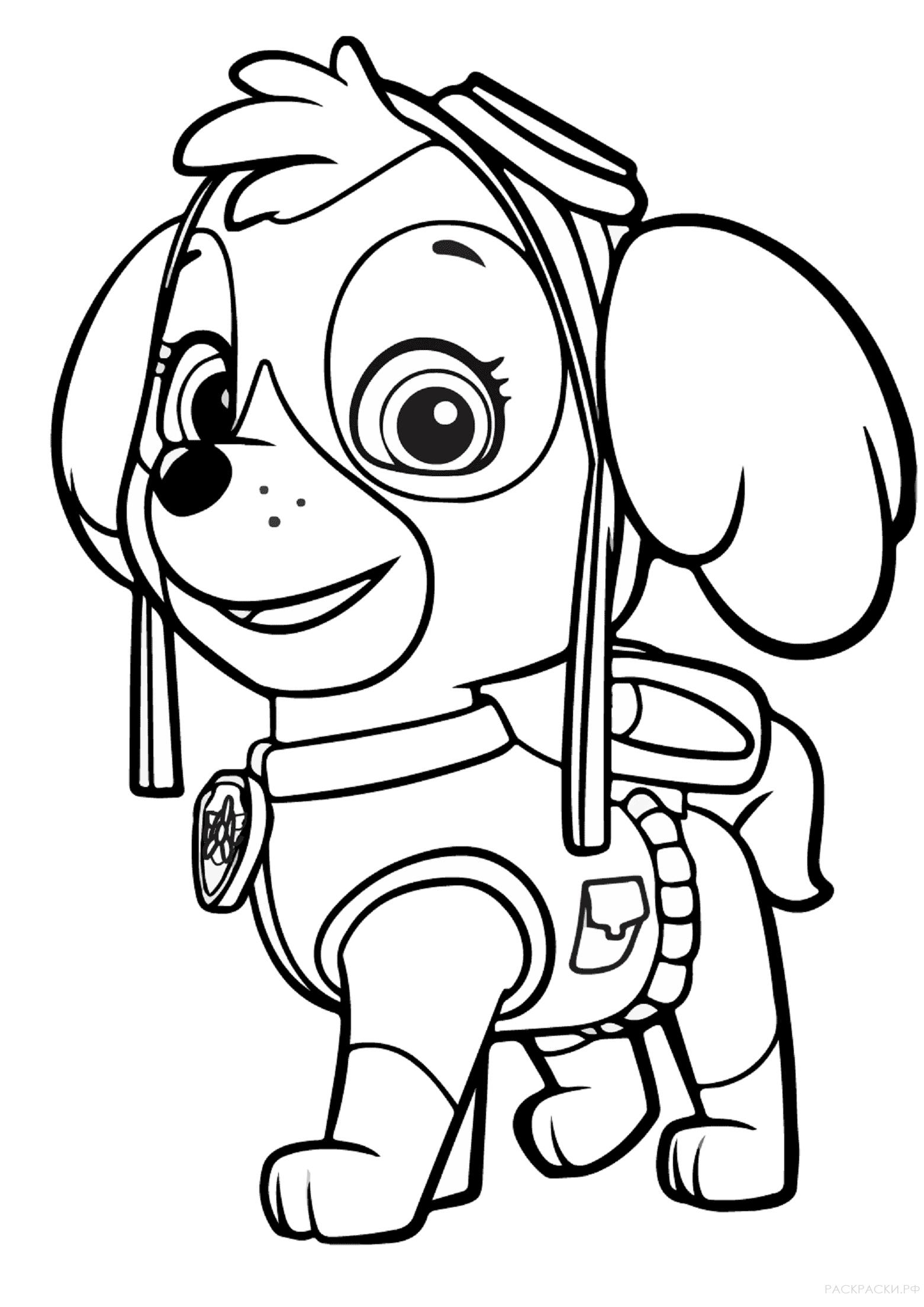 крепыш раскраска щенячий патруль уникален тем, что