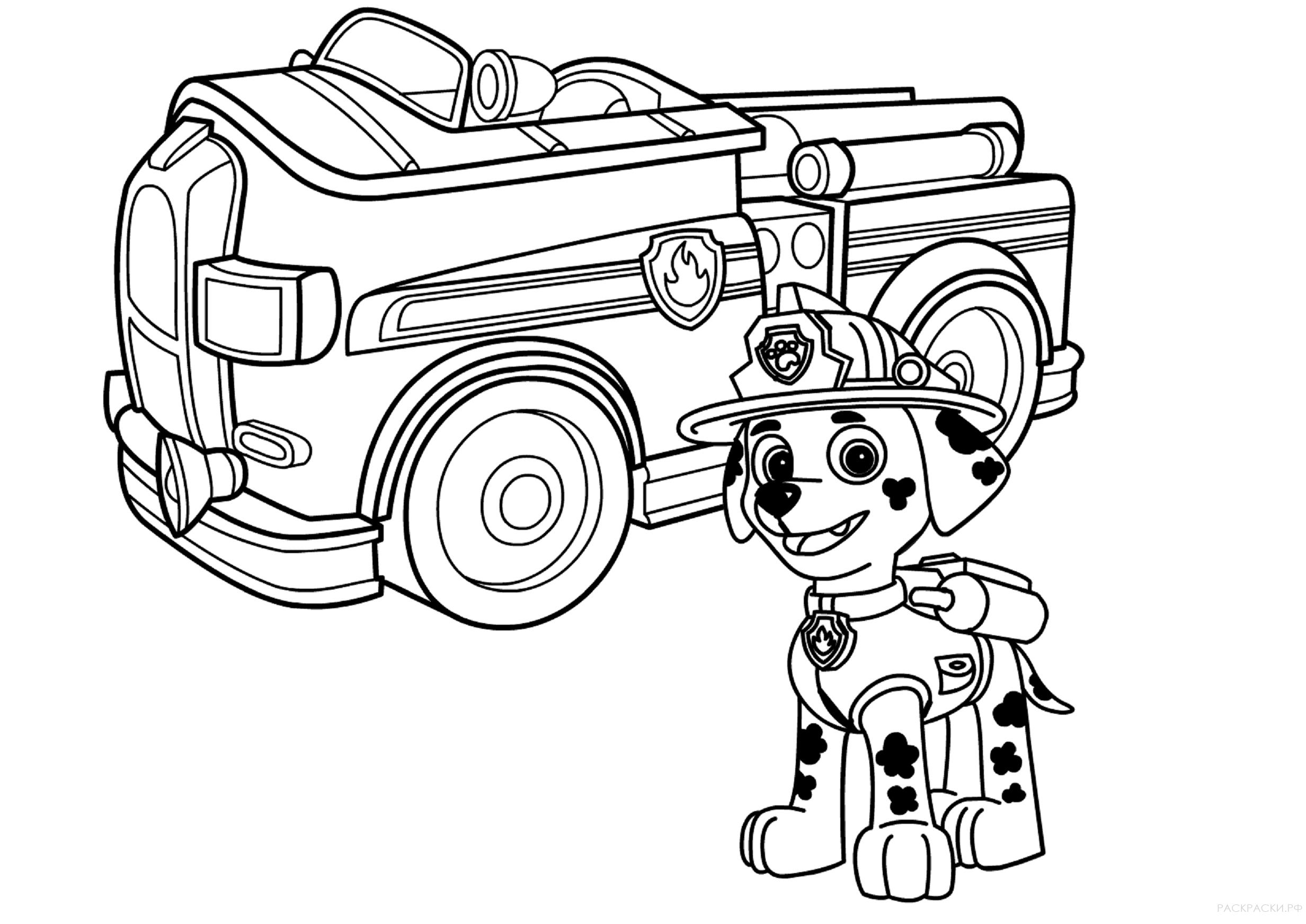 Собачий патруль раскраска распечатать