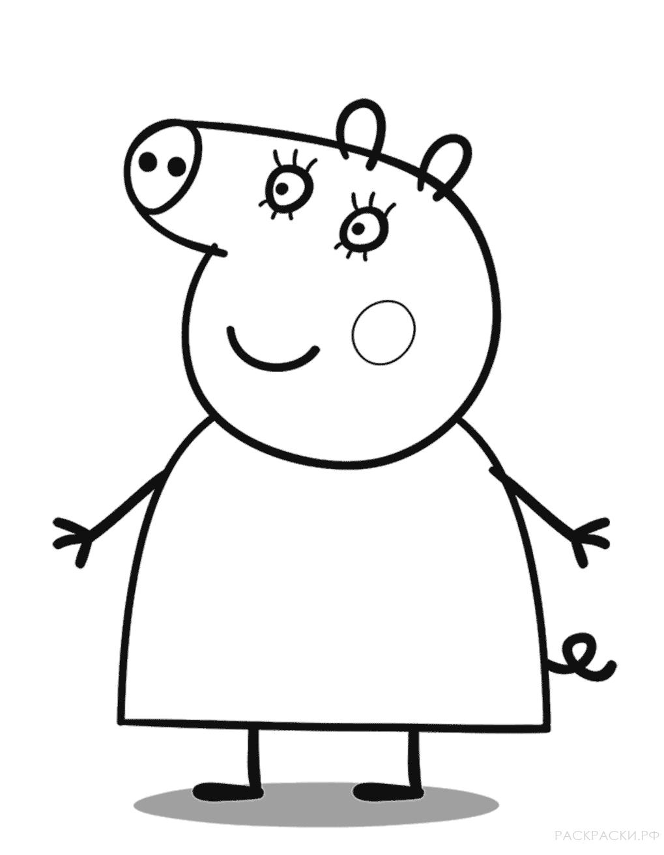 """Раскраска """"Мама Свинки Пеппе"""""""