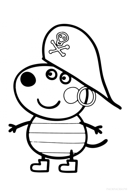 """Раскраска """"Свинка Пеппа-пират"""""""