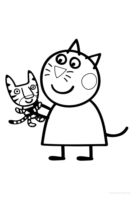 """Раскраска """"Кошка Кэнди"""""""