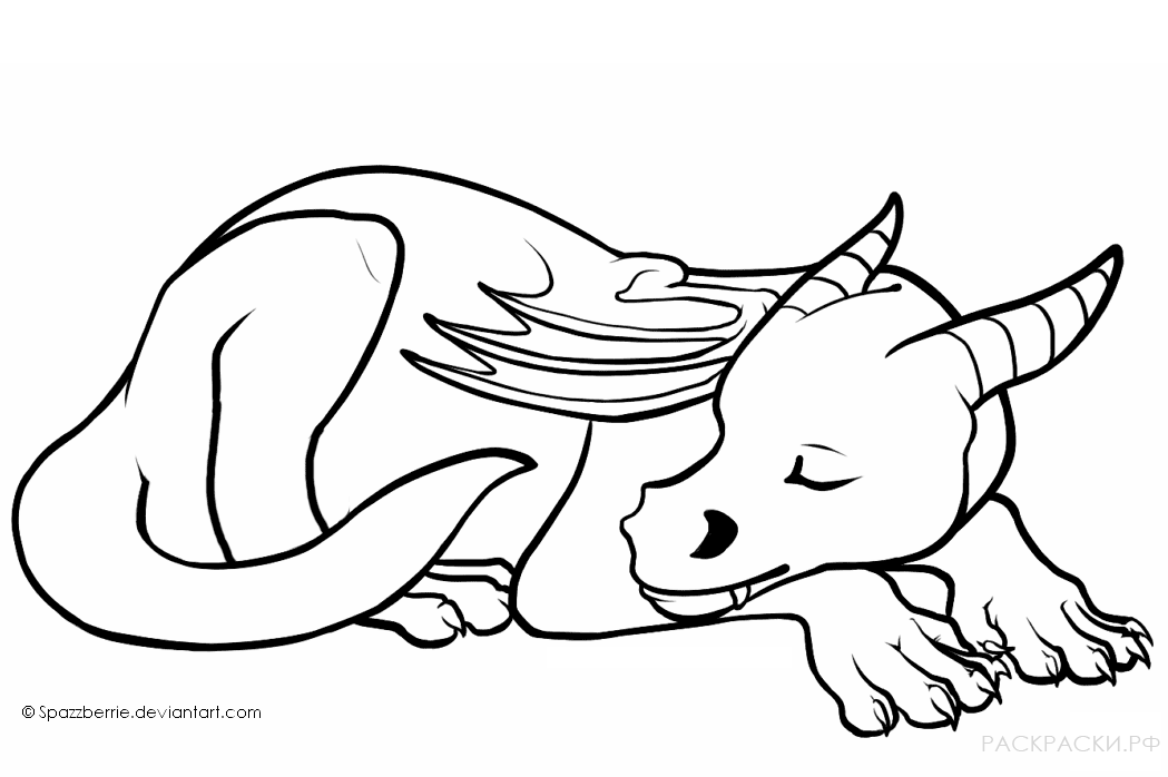 Cute dragon coloring pages