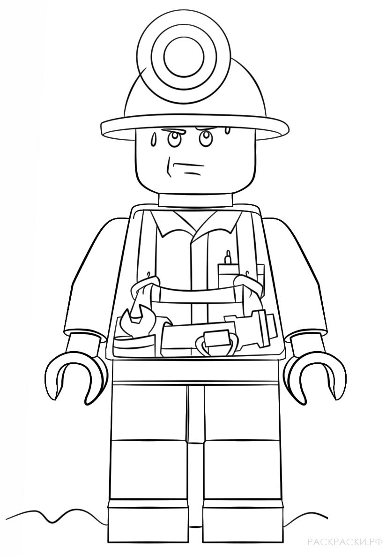 Раскраска Лего Шахтёр » Раскраски.рф - распечатать ...