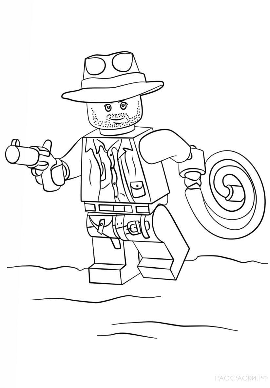 Раскраска Лего Индиана Джонс