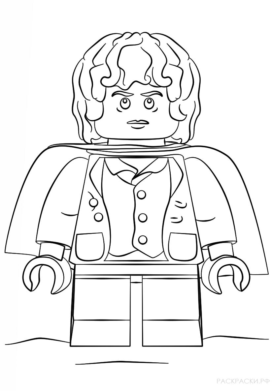 Раскраска Лего Фродо Властелин Колец