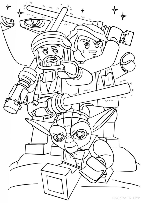 Раскраска Колоны из серии Лего Звёздные войны