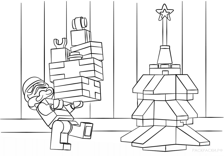 Раскраска Лего Клон из Звёздных Войн и Рождество