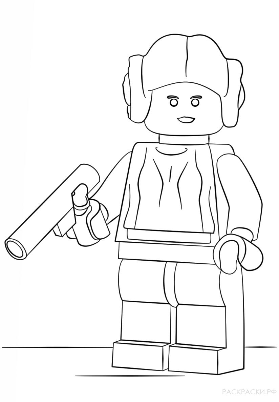 Раскраска Лего Звёздные войны