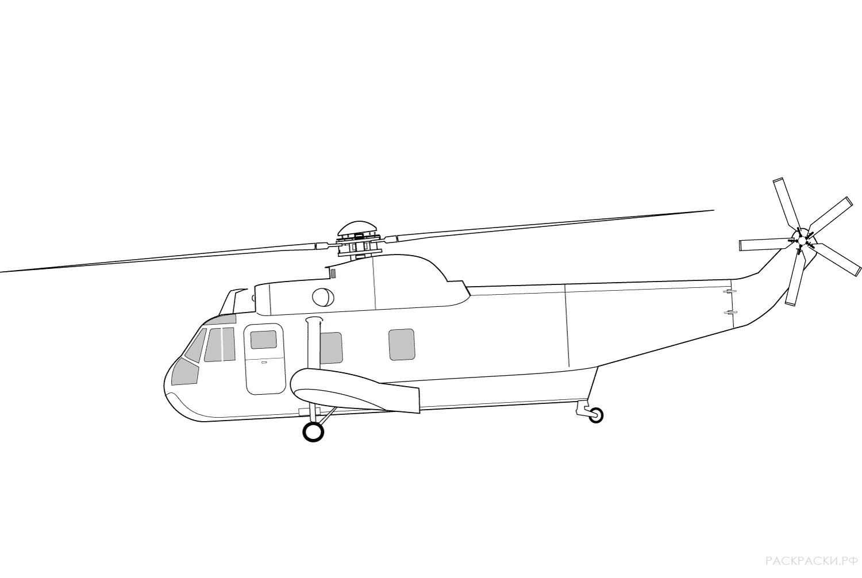 Раскраска Военный вертолёт Ми-26 » Раскраски.рф ...