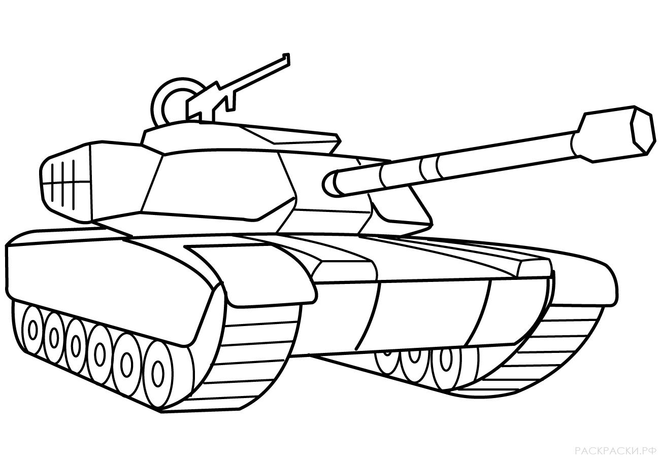 раскраски картинки танк