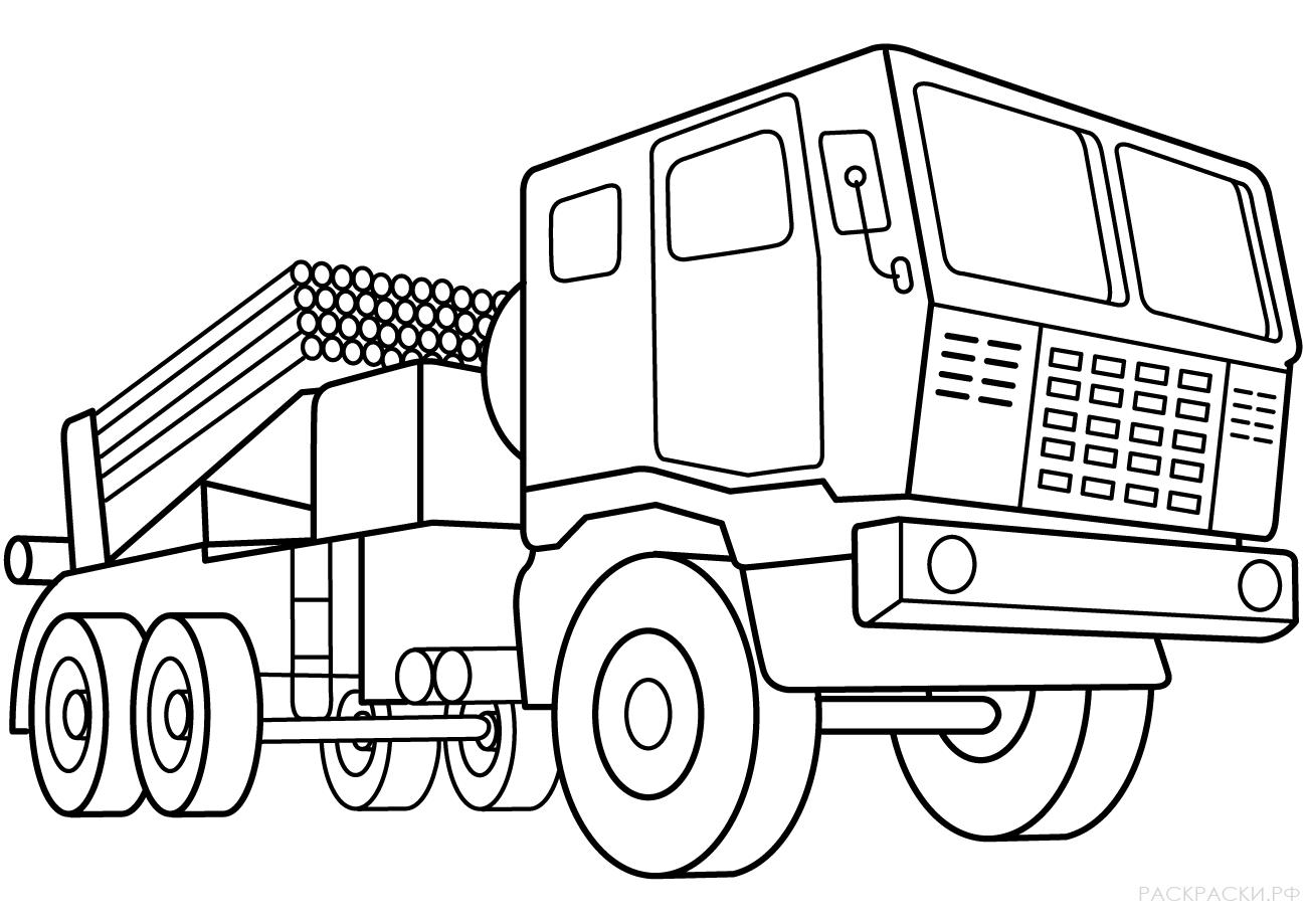 Военная Раскраска Ракетная установка