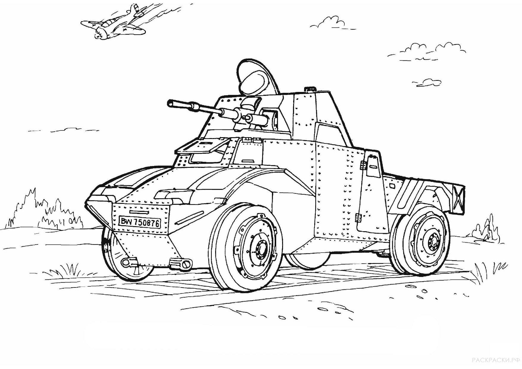 Военная Раскраска Бефельсваген