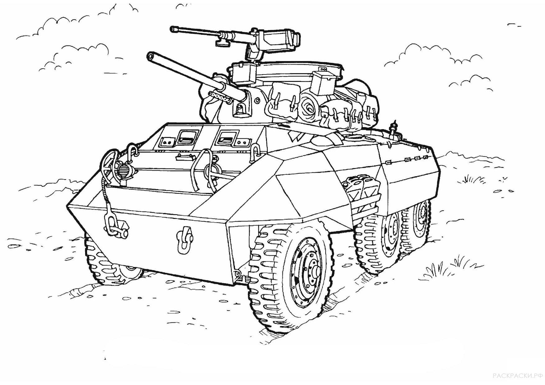 Военная Раскраска Грейхаунд