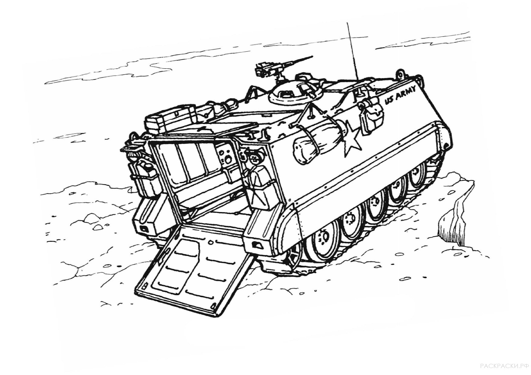 Военная Раскраска Бронетранспортёр M 113