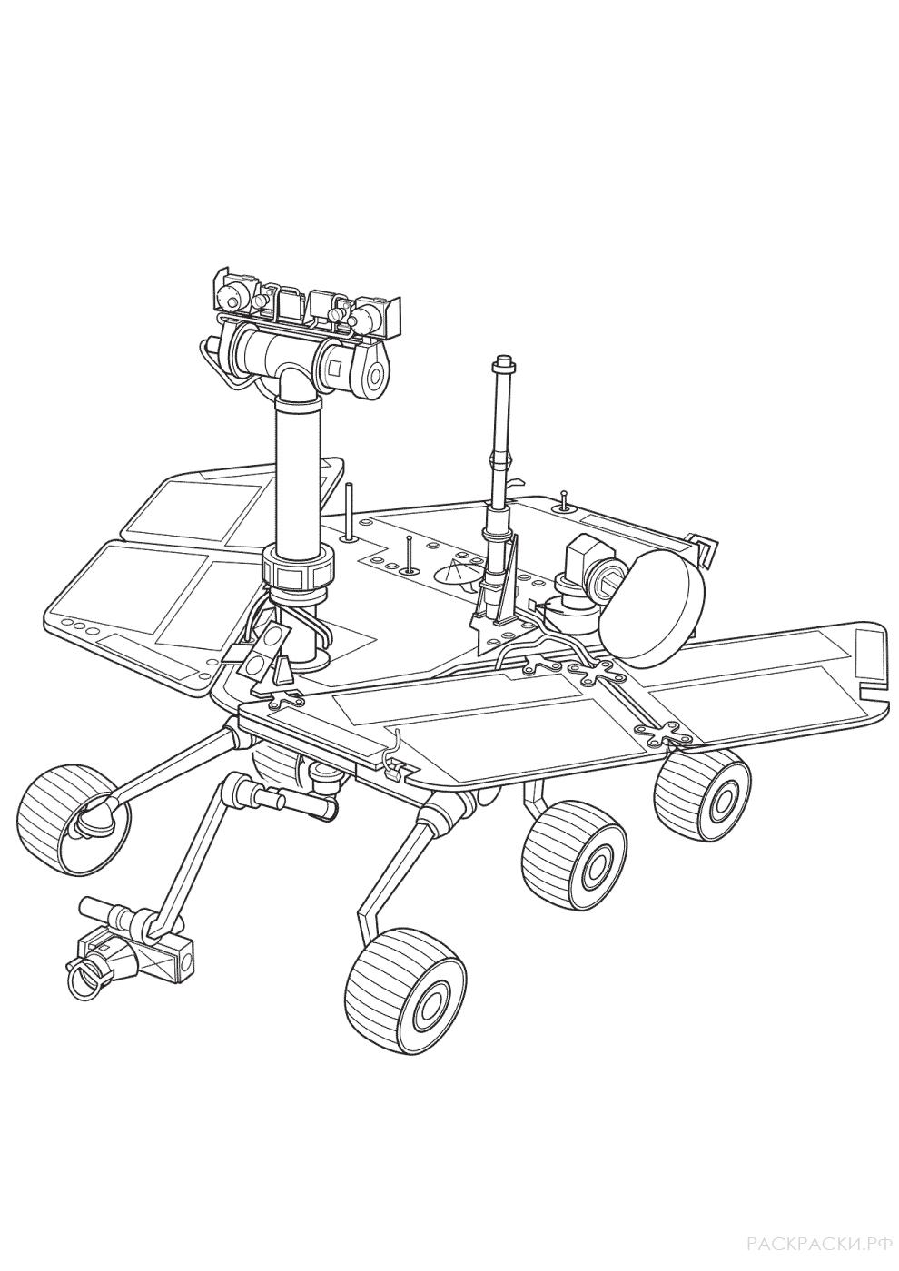 Рисунки марсоходов